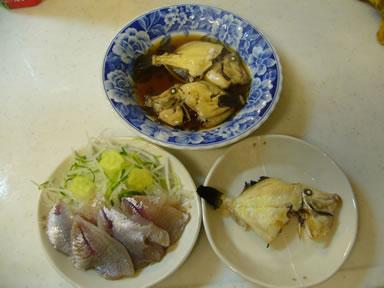 本日の釣果で作った料理画像